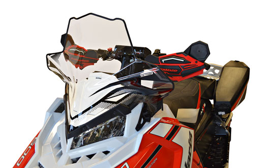 "Polaris Axys Chassis, Mid, (18.5"") Clear w/black graphics"