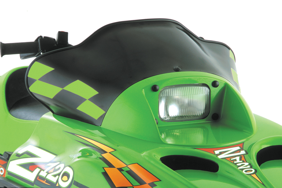 Arctic Cat, ZR120, Low, Solid Black w/Green Checks