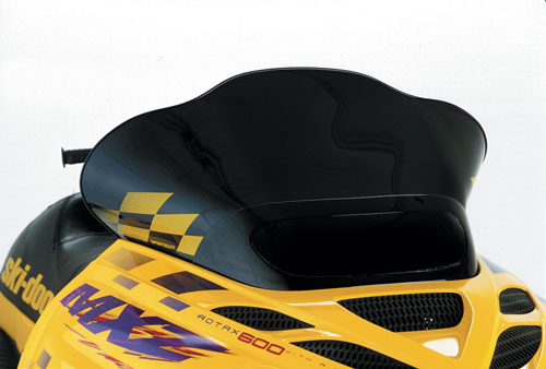 "Ski-Doo ZX, Low (13.25""), Black with yellow checks"