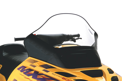 "Ski-Doo ZX, Tall (15.5""), Clear with black base"