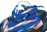 Yamaha Viper, Mid (12'), Clear with white and orange strobe graphics - 14332