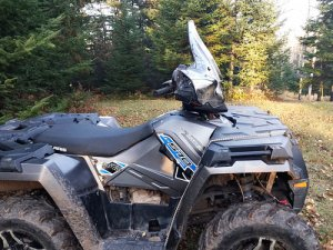 No Cut Out with Rapid Release Mount` Powermadd 24574 Pro Tek ATV Windshield